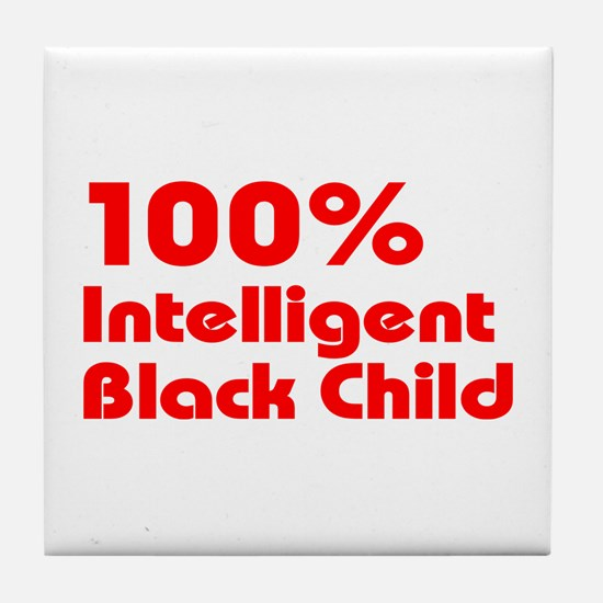 100% Intelligent Black Child Tile Coaster