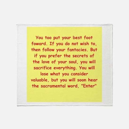 Sufi Sayings Throw Blanket