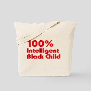 100% Intelligent Black Child Tote Bag