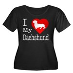 I Love My Dachshund Women's Plus Size Scoop Neck D