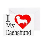 I Love My Dachshund Greeting Cards (Pk of 10)