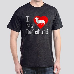 I Love My Dachshund Dark T-Shirt