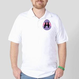 Easter Letter H Monogram Golf Shirt