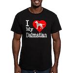I Love My Dalmatian Men's Fitted T-Shirt (dark)