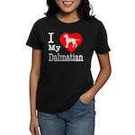 I Love My Dachshund Women's Dark T-Shirt