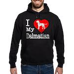 I Love My Dalmatian Hoodie (dark)