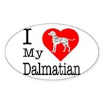 I Love My Dalmatian Sticker (Oval 10 pk)