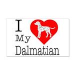 I Love My Dalmatian 22x14 Wall Peel
