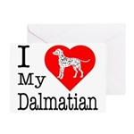 I Love My Dalmatian Greeting Card