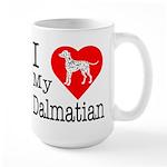 I Love My Dachshund Large Mug
