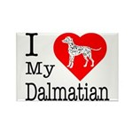 I Love My Dalmatian Rectangle Magnet