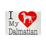 I Love My Dalmatian Rectangle Magnet (10 pack)
