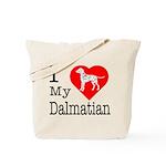 I Love My Dalmatian Tote Bag