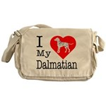 I Love My Dachshund Messenger Bag