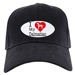 I Love My Dalmatian Black Cap