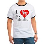 I Love My Dalmatian Ringer T
