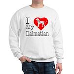 I Love My Dalmatian Sweatshirt