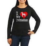 I Love My Dalmatian Women's Long Sleeve Dark T-Shi