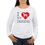 I Love My Dalmatian Women's Long Sleeve T-Shirt