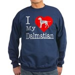 I Love My Dalmatian Sweatshirt (dark)