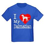 I Love My Dalmatian Kids Dark T-Shirt