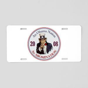 Obama Nation Aluminum License Plate