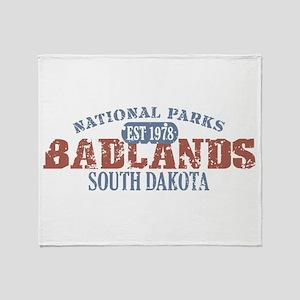 Badlands National Park SD Throw Blanket