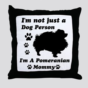 Pomeranian Mommy Throw Pillow