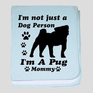 Pug Mommy baby blanket