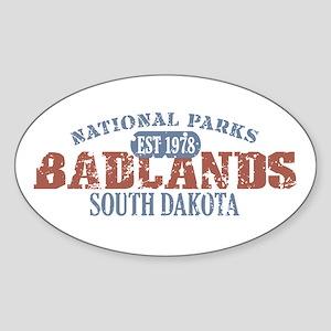 Badlands National Park SD Sticker (Oval)