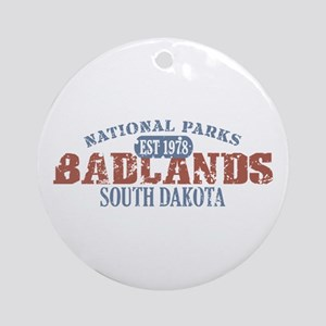 Badlands National Park SD Ornament (Round)