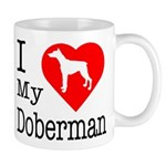 I Love My Doberman Pinscher Mug