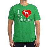 I Love My Doberman Pinscher Men's Fitted T-Shirt (