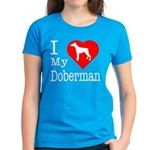 I Love My Dalmatian Women's Dark T-Shirt