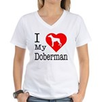 I Love My Dalmatian Women's V-Neck T-Shirt