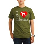 I Love My Doberman Pinscher Organic Men's T-Shirt