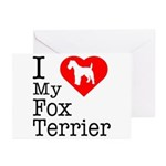 I Love My Fox Terrier Greeting Cards (Pk of 20)