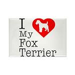I Love My Fox Terrier Rectangle Magnet (10 pack)
