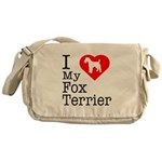 I Love My Fox Terrier Messenger Bag