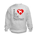 I Love My Fox Terrier Kids Sweatshirt