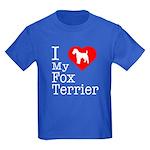 I Love My Fox Terrier Kids Dark T-Shirt