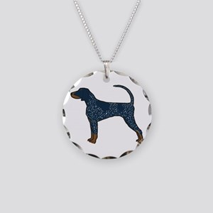 Blue Tick Coonhound Necklace Circle Charm