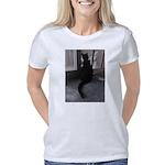 Black Cat at Screen Door Women's Classic T-Shirt