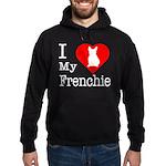 I Love My Frenchie Hoodie (dark)
