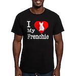 I Love My Frenchie Men's Fitted T-Shirt (dark)