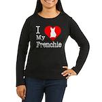 I Love My Frenchie Women's Long Sleeve Dark T-Shir