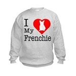I Love My Frenchie Kids Sweatshirt
