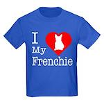I Love My Frenchie Kids Dark T-Shirt