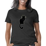 Black Cat Art T-shirts Cat Women's Classic T-Shirt
