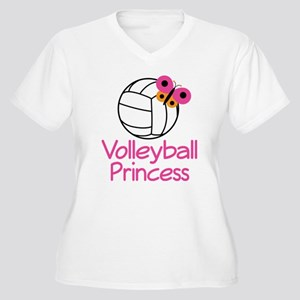 Volleyball Princess Gift Women's Plus Size V-Neck